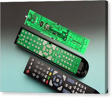 Remote Control Printed Circuit Board Canvas Print