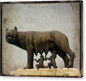Remus And Romulus Canvas Print by Bernard Jaubert
