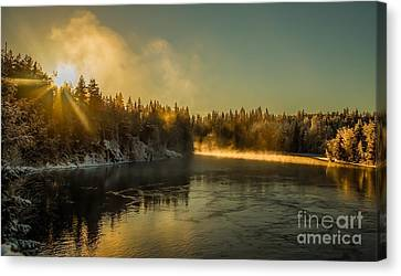 Canvas Print featuring the photograph Rena  by Rose-Maries Pictures