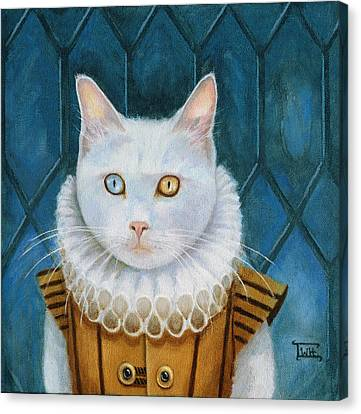 Canvas Print featuring the painting Renaissance Cat by Terry Webb Harshman
