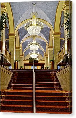 Renaissance Hotel Corridor Canvas Print by Frozen in Time Fine Art Photography