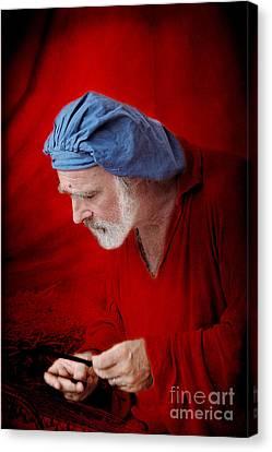 Renaissance Music Man Canvas Print by Ellen Cotton
