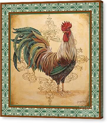 Renaissance Rooster-d-green Canvas Print