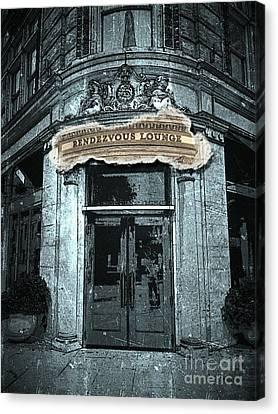 Canvas Print featuring the photograph Rendezvous Lounge - Lancaster Pa. by Joseph J Stevens