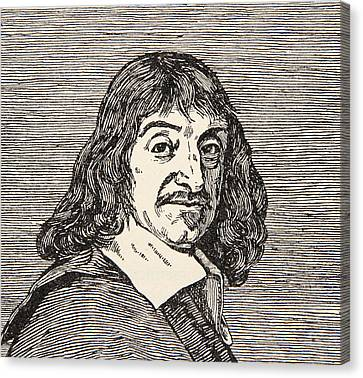 Rene Descartes Canvas Print by French School