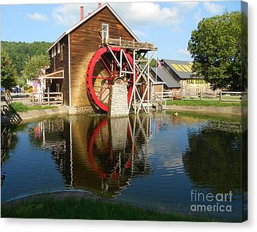 Canvas Print featuring the photograph Renfro Valley  Mill by Mary Carol Story