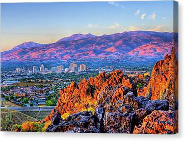 Reno Nevada Sunrise Canvas Print by Scott McGuire