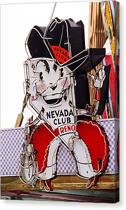 Reno - Old Nevada Club Canvas Print by Frank Romeo