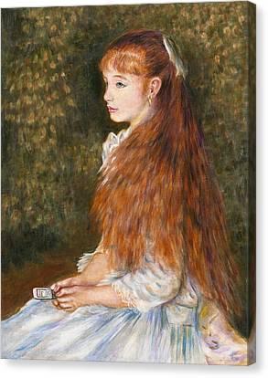 Renoir Girl Texting Canvas Print by Jennifer Embry