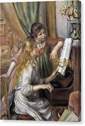 Renoir, Pierre-auguste 1841-1919. Two Canvas Print by Everett