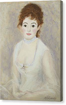 Renoir's Lady Canvas Print
