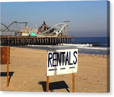 Rentals At The Shore Canvas Print by Allen Beilschmidt