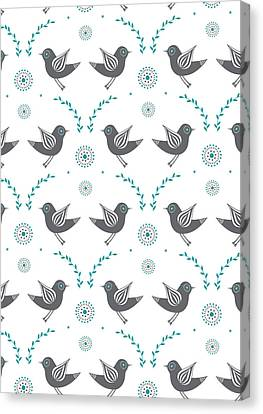 Repeat Lovebird Canvas Print by Susan Claire