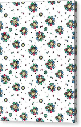 Repeat Print - Floral Folk Canvas Print
