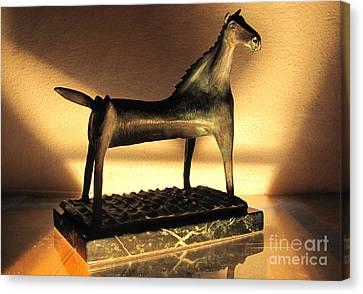 rephotographed SEA MARE Original bronze sculpture Limited Edition of 3 sculptures Canvas Print