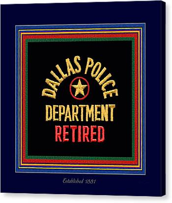 Replica D P D Patch - Retired With Epaulette Colors Canvas Print