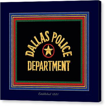 Replica Dpd Patch With Epaulette Colors Canvas Print