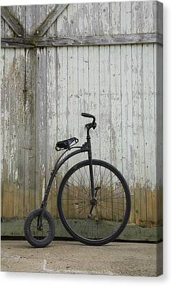 Replica Of An Old Penny-farthing Canvas Print by Perry Mastrovito