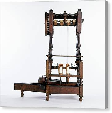 Replica Of Flyer Spinning Frame Canvas Print by Dorling Kindersley/uig