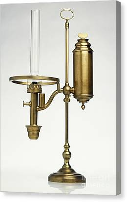 Replica Of Oil Lamp Canvas Print by Dave King / Dorling Kindersley / Science Museum, London