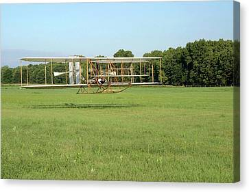 Replica Wright Flyer Canvas Print by National Park Service/us Department Of Energy