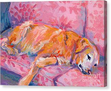 Hot Color Canvas Print - Repose by Kimberly Santini