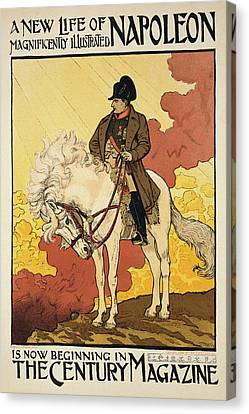 Vintage Poster Depicting Napoleon Canvas Print