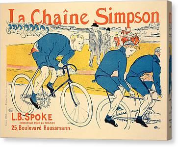 Reproduction Of A Poster Advertising Canvas Print by Henri de Toulouse-Lautrec