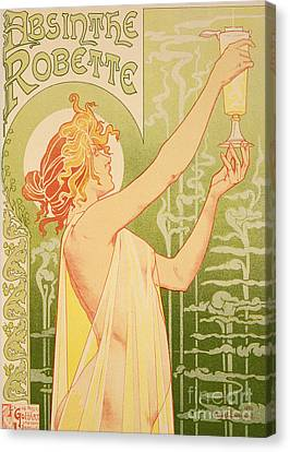 Bars Canvas Print - Reproduction Of A Poster Advertising 'robette Absinthe' by Livemont