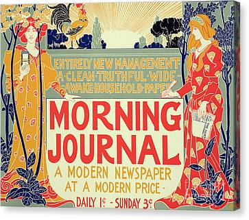 Art Nouveau Style Canvas Print - Reproduction Of A Poster Advertising The Morning Journal by Louis John Rhead