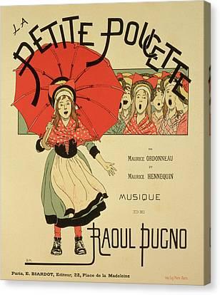 Reproduction Of A Poster Advertising The Operetta La Petite Poucette Canvas Print