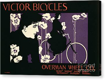 Bicycle Canvas Print - Reproduction Of A Poster Advertising Victor Bicycles by American School
