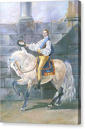 Reproduction Of J L David Canvas Print by Ruth Seal