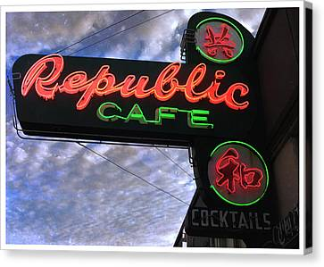 Republic Cafe Canvas Print by Gail Lawnicki