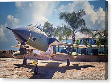 Canvas Print featuring the photograph Republic F-105 Thunder Chief by Steve Benefiel