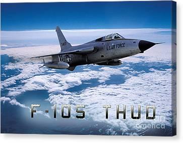 Republic F-105 Thunderchief Canvas Print