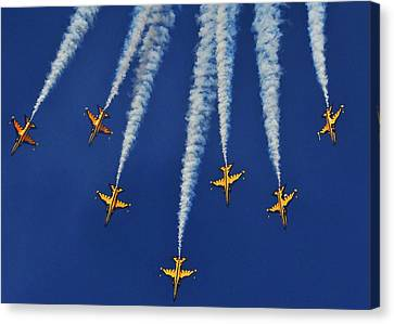 Canvas Print featuring the photograph Republic Of Korea Air Force Black Eagles by Science Source
