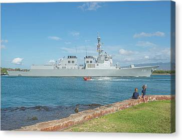 Republic Of Korea Navy Guided-missile Canvas Print