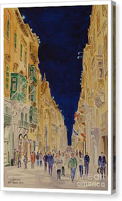 Republic Street Valletta Malta Canvas Print