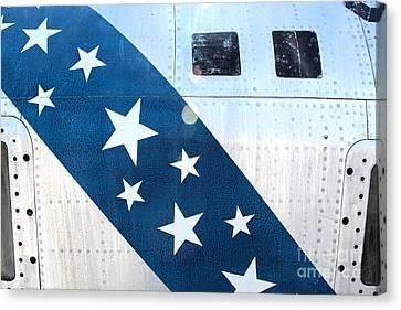 Republic Thunderflash Rf-84k - Stars Canvas Print by Gregory Dyer