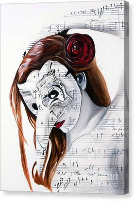 Canvas Print featuring the painting Requiem by Denise Deiloh