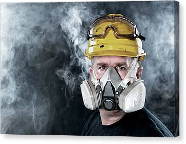 Rescue Worker Canvas Print