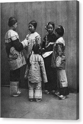 Rescued Chinese Slave Girls Canvas Print by Underwood Archives