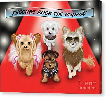 Rescues Rock The Runway Canvas Print