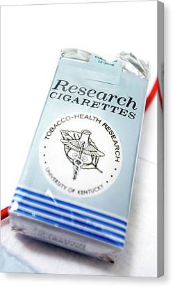 Research Cigarettes Canvas Print by Arno Massee