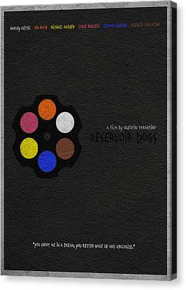 Movie Poster Canvas Print - Reservoir Dogs by Inspirowl Design