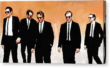 Reservoir Dogs Movie Artwork 1 Canvas Print by Sheraz A