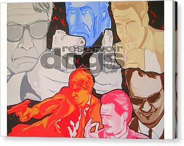 Reservoir Dogs Tribute Canvas Print by Gary Niles
