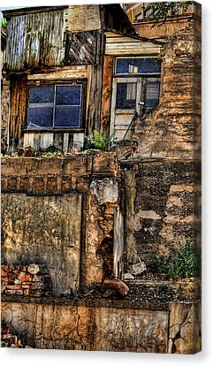Residences On A Hill  In Jerome Arizona Canvas Print