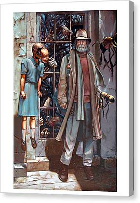 Resistance At The Threshold Canvas Print by William Stoneham